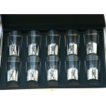Shooter Numbered Peg Finder Shot Glasses 1-10 Gift Boxed